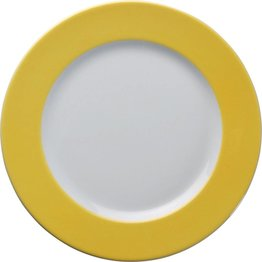 Teller flach 21,5cm gelb