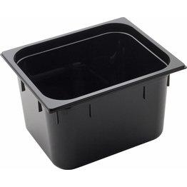 GN Behälter 1/2 Polycarbonat schwarz T: 200mm, 14,4L - NEU