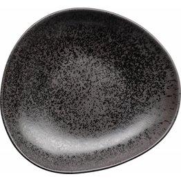 "Porzellanserie ""Ebony"" Teller tief 24,5x23cm - NEU"