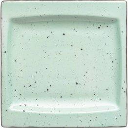 "Porzellanserie ""Granja"" mint Platte flach eckig, 18 x 18 cm"