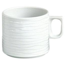 "Hotelporzellan ""Curved"" Tasse Obere Kaffee"