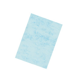 "Marmorpapier ""Classic"" wasserblau A4 100 Blatt"