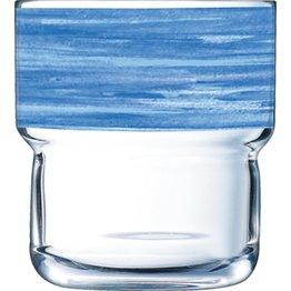 """Glasserie """"Brush"""" Blau - NEU"""