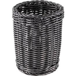 Korb Besteck rund 11,5x15cm schwarz - NEU