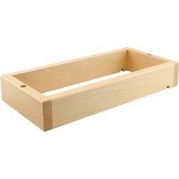 "Buffetsystem ""Wood"" GN 1/3  Basisrahmen 40,5x19x6,5cm stapelbar - NEU"