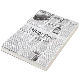 "Einschlagpapier""Zeitungsdruck"" 25x35 cm - NEU"