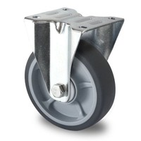 Bockrolle, 125mm Durchmesser, Kugellager, PP / TPR