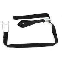 Spannband aus Textil für Rollbehälter, 1 m, schwarz
