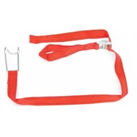 Spannband aus Textil für Rollbehälter, 1 m, rot