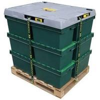 Kunststoffdeckel, 4 Spanngurte, 1222x1018x93mm
