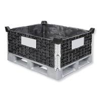 Palettenaufsatzrahmen aus Kunststoff, 4 Scharniere, 800x600x200mm