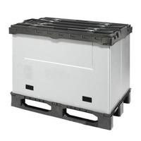 Palettenbox aus Kunststoff, faltbar, 3 Kufen, 1220x820x928mm