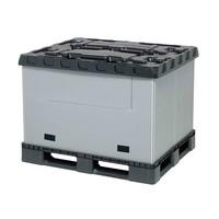 Palettenbox aus Kunststoff, faltbar, 3 Kufen, 1227x1027x965mm