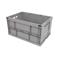 Kunststoffbehälter, geschlossen, faltbar, 59 l, 600x400x320mm