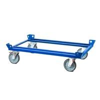 Transportroller, Dolly für Gitterboxen, 500 kg, Räder mit Bremsen, 1260x860x320mm