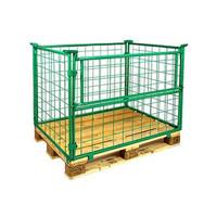 Gitteraufsatzrahmen, Scharnierklappe, faltbar, grün lackiert, 1200x800x800mm