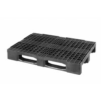 Kunststoffpalette, 3 Kufen, offenes Deck, 1200x800x160mm