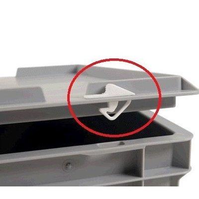 Kunststoffverschluss und Dichtung für Euronorm-Stapelbehälter