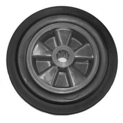 Matador Reifen für Sackkarre, Vollgummi, Ø 25mm, 250x60mm