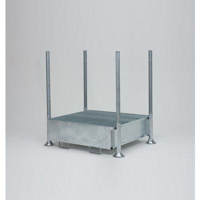 Rungenpalette mit Auffangwanne, 440 l, 1400x1035x310mm