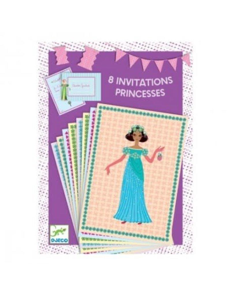 Djeco 8 Invitations Princesses
