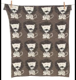 Couverture lion tricot