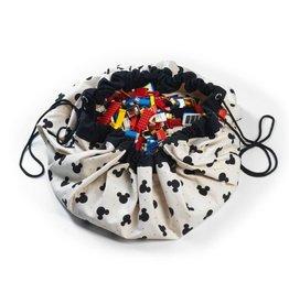 mickey black toy storage bag