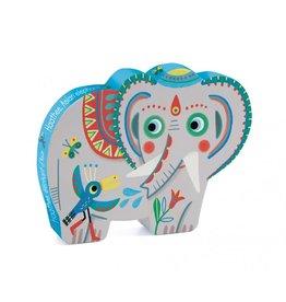 Puzzle silhouette - Haatee, éléphant d'Asie (24 pcs)
