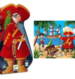 Puzzles silhouettes - Le pirate et son trésor (36pcs)