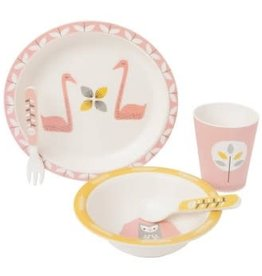 Set bambou Flament rose