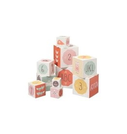 Set de block 10 cubes Fament rose