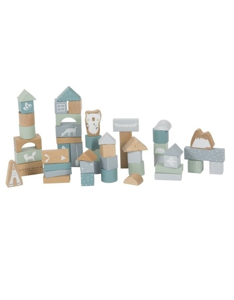 Little Dutch Blocs en bois adventure -  blue