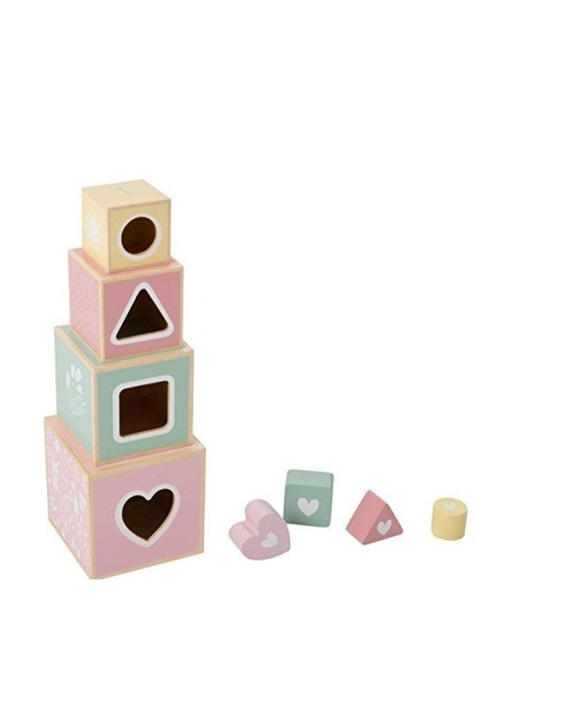 Little Dutch Blocs a empiler adventure - pink