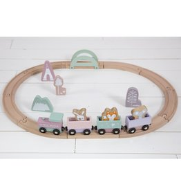 Little Dutch Circuit train en bois adventure - pink