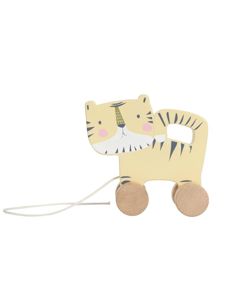 Little Dutch Jouet a tirer en bois - tigre