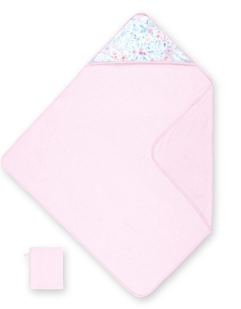 Cape de bain 90/90 cm terry+jersey APRIL 54 cristal