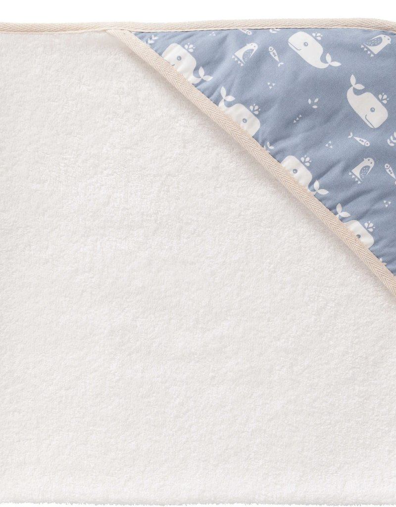 cape de bain baleine bleu
