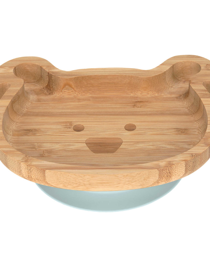 Assiette ventouse Silicone Bois chien