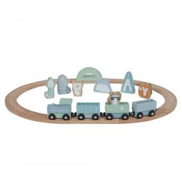Little Dutch circuit train en bois adventure mint