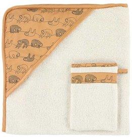 Cape + Gant de toilette- Silly Sloth - 80-033