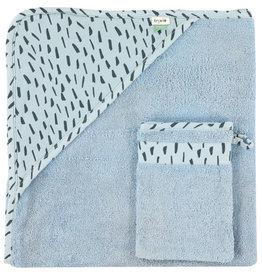 Cape et gant de toilette - Blue Meadow - 82-033