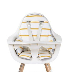 COUSSIN DE CHAISE EVOLUTIVE JERSEY OCHRE STRIPES