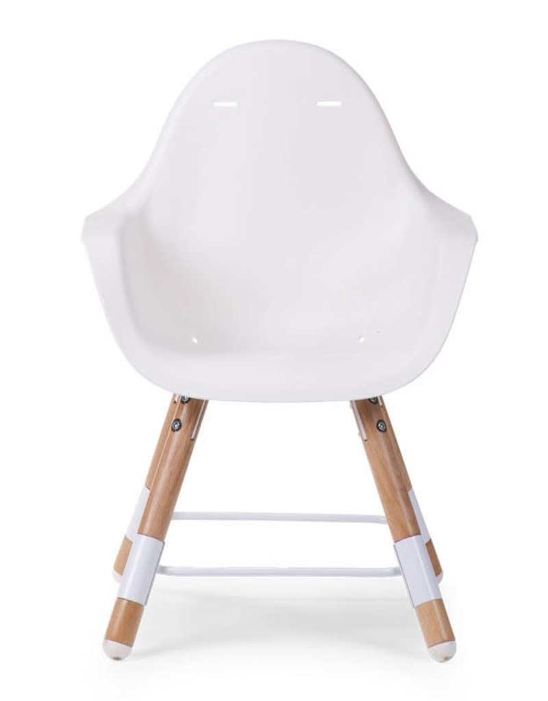 EVOLU 2 CHAISE NATUREL / BLANC 2 en 1 + ARCEAU