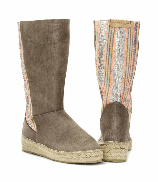 Anna Slow SILVER EVENING BOOTS