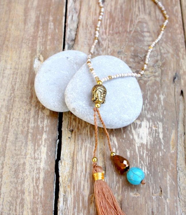 Hippy Chick Budha Mini Halskette Gold