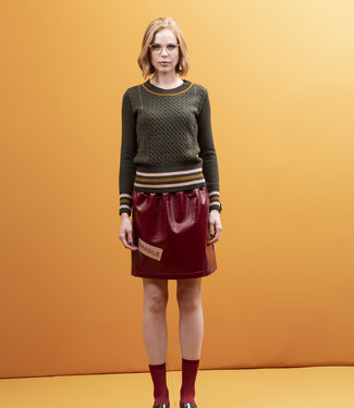 STMA by Stefania Marra Fem With Care Vinyl Skirt