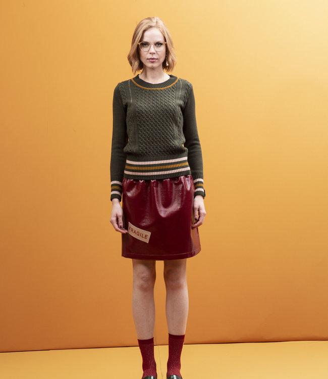 STMA by Stefania Marra Fem With Care Vinyl Skirt