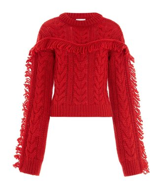 Hayley Menzies Etta Jumper Cable Red