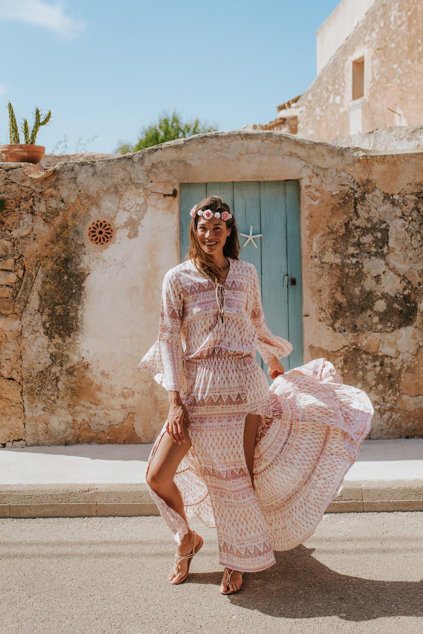 Trendy fashion in boho style
