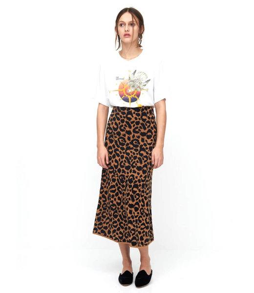 Hayley Menzies Ikat Jacquard Midi Skirt